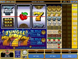 Jungle 7s casino game